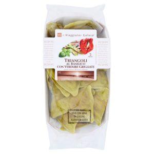 Triangoli Al Basilico Con Verdure Grigliate