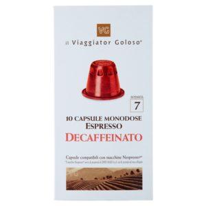 Espresso decaffeinato 10 capsule compatibili con macchine Nespresso