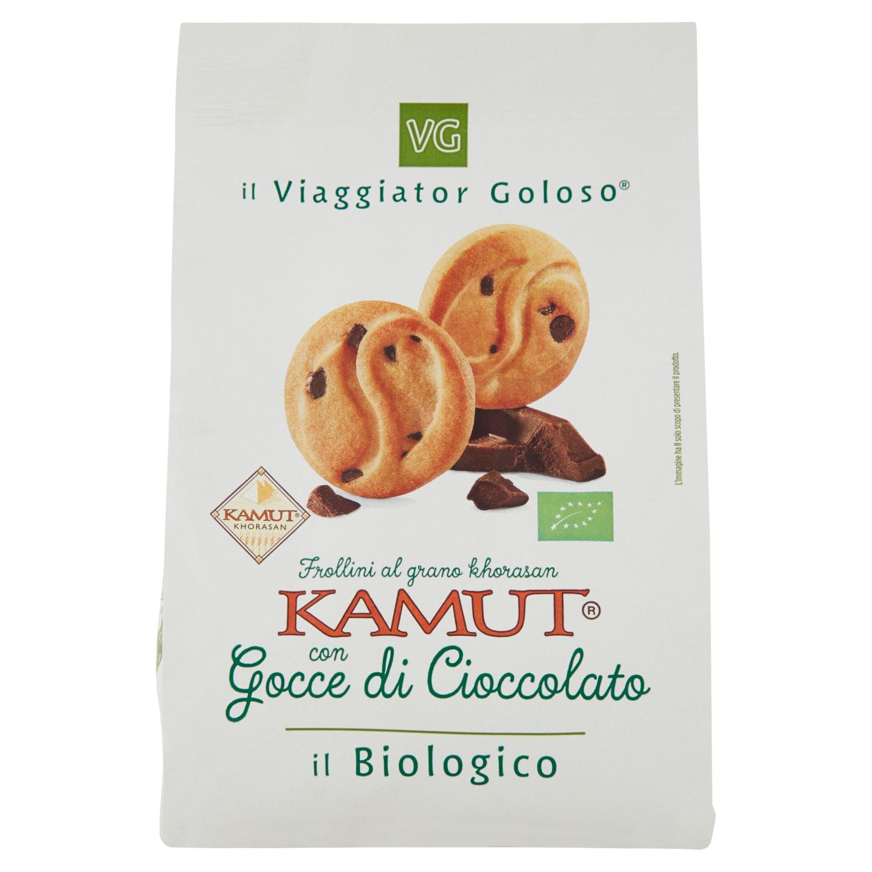 Frollini al grano khorasan kamut con gocce di cioccolato il Biologico