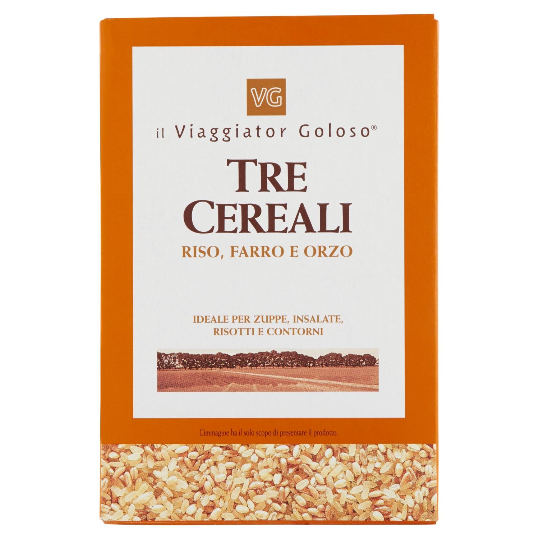 Tre cereali riso, farro e orzo