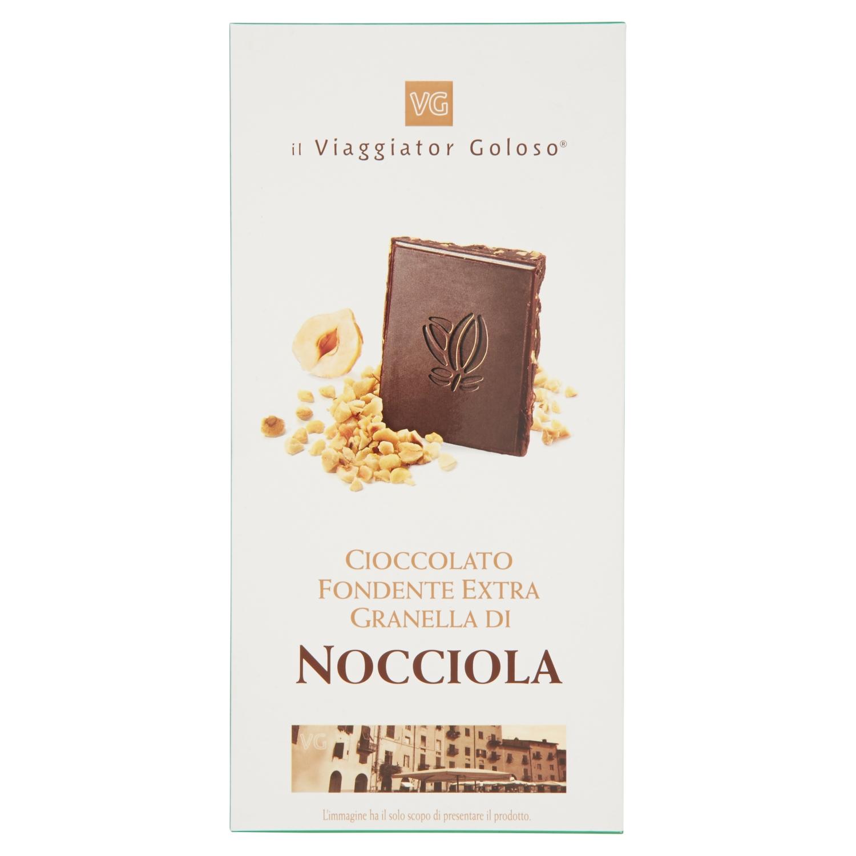 Cioccolato fondente extra granella di nocciola