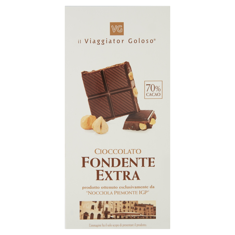 Cioccolato fondente extra con nocciola Piemonte IGP