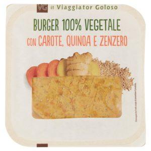 Burger 100% vegetale con carote, quinoa e zenzero 100% vegetale