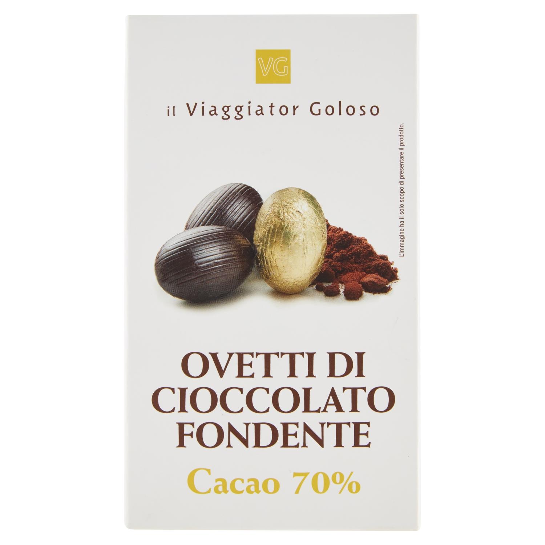Ovetti di cioccolato fondente cacao 70%