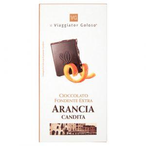 Cioccolato fondente extra arancia candita