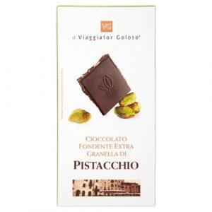 Cioccolato fondente extra granella di pistacchio