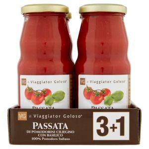 Passata di pomodorini ciliegino con basilico