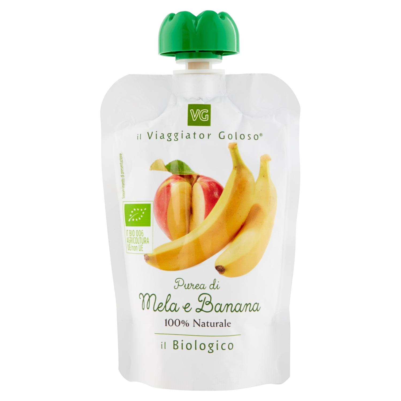 Purea di mela e banana il Biologico