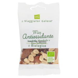 Mix antiossidante arachidi, mandorle e uva sultanina il Biologico