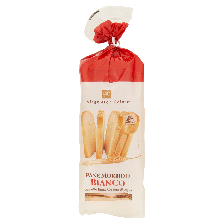 Pane morbido bianco a fette