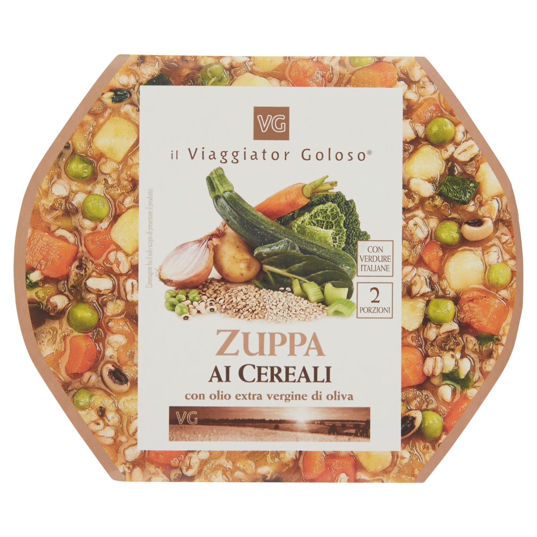 Zuppa ai cereali con olio extra vergine di oliva