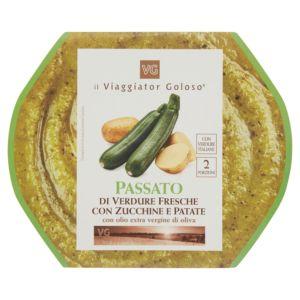 Passato di verdure fresche con zucchine e patate