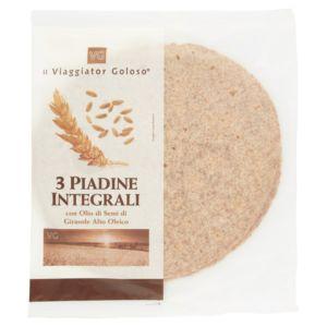 3 Piadine integrali con olio di semi di girasole alto oleico