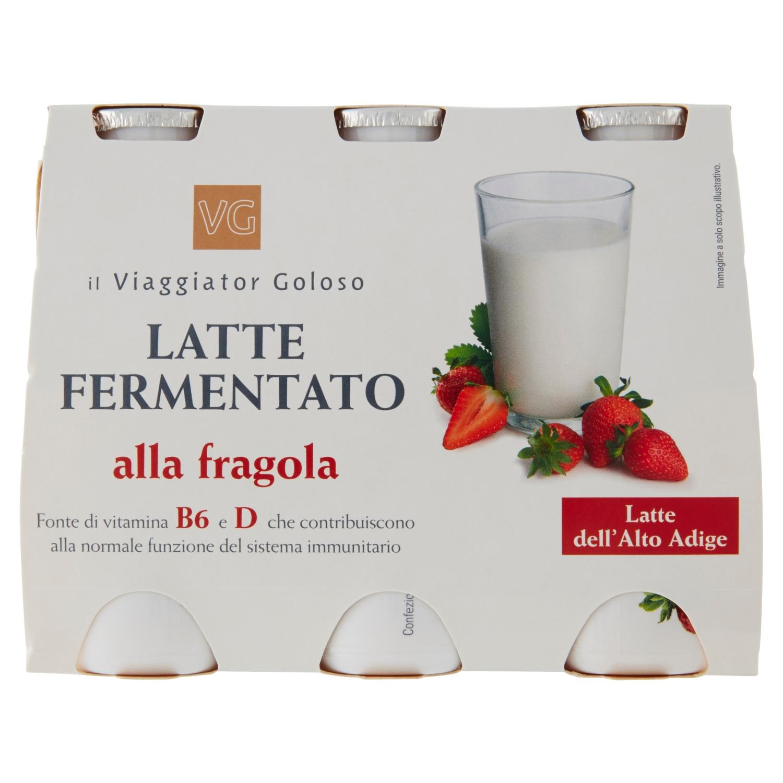 Latte fermentato alla fragola