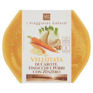 Vellutata di carote, finocchi e porri con zenzero