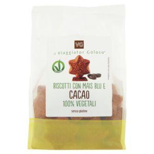 Biscotti con mais blu e cacao 100% vegetale