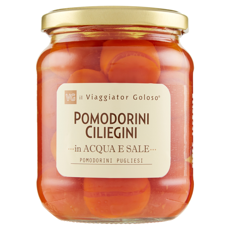 Pomodorini ciliegini in acqua e sale