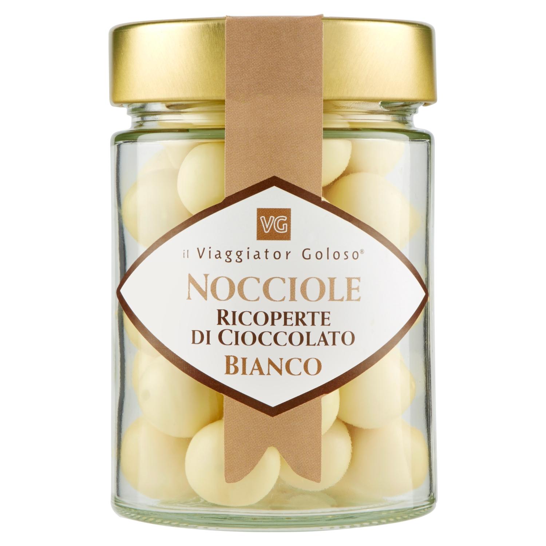 Nocciole ricoperte da cioccolato bianco