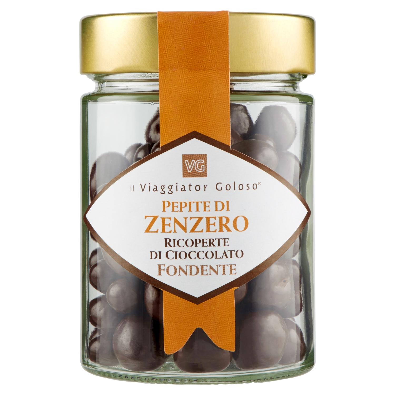 Pepite di Zenzero ricoperte di Cioccolato fondente