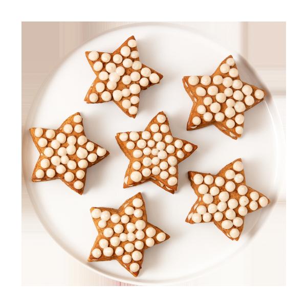 Cream tart natalizia con biscotti gingerbread