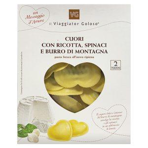 Cuori ripieni con ricotta spinaci e burro