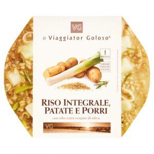 Riso integrale, patate e porri con olio extravergine di oliva