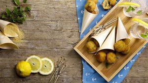 Polpette di cous cous aromatizzate alla menta e limone